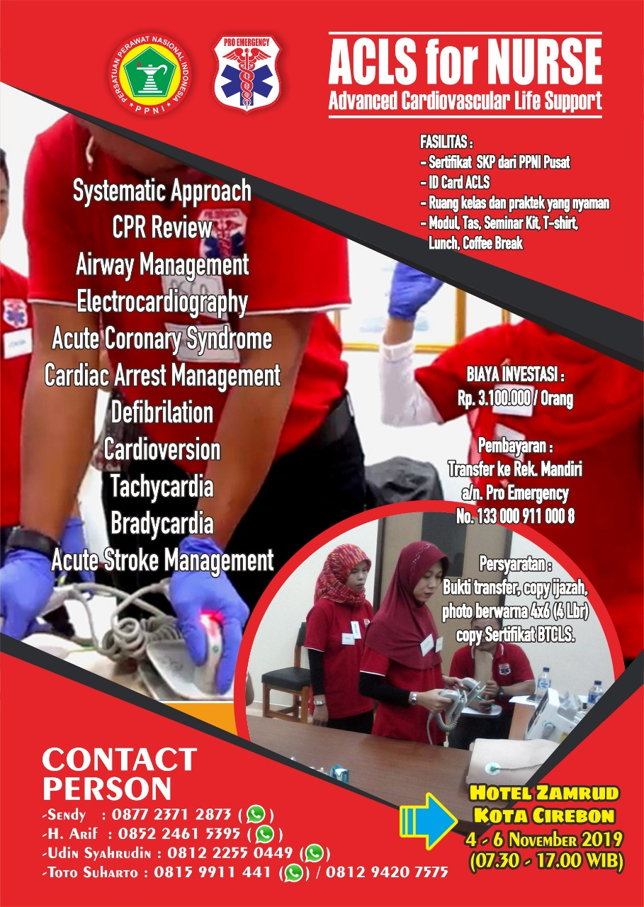 ACLS FOR NURSE CIREBON 4-6 NOVEMBER 2019