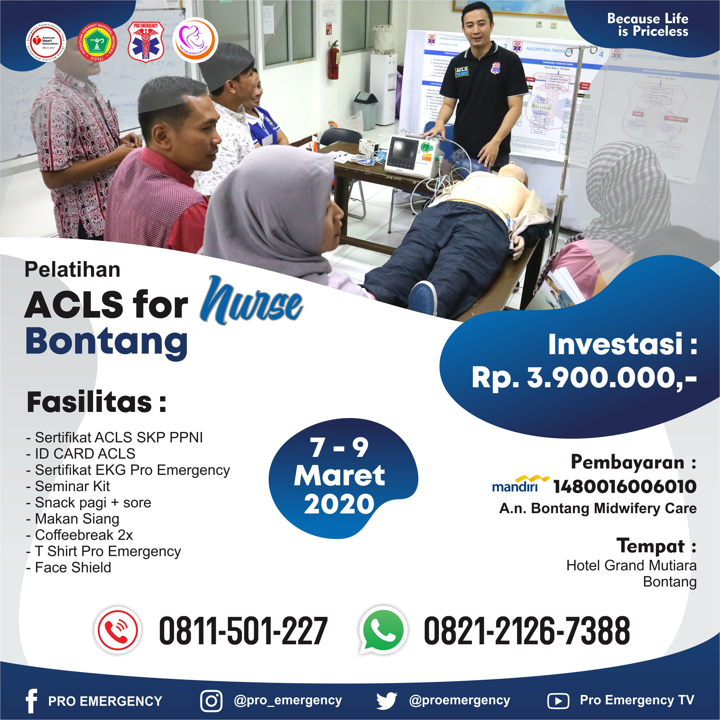 ACLS FOR NURSE 7 - 9 MARET 2020 PRO EMERGENCY BONTANG